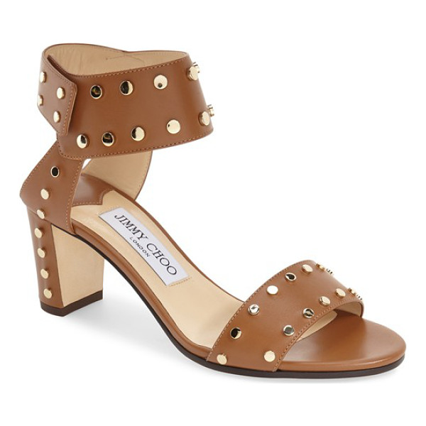 JIMMY CHOO jimmy choo 'veto' studded sandal - Polished studs highlight the clean, modern lines of an...