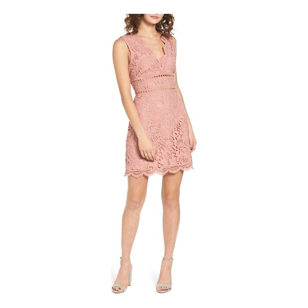 J.O.A. lace minidress - Soft and romantic, this lace dress features a strappy back...