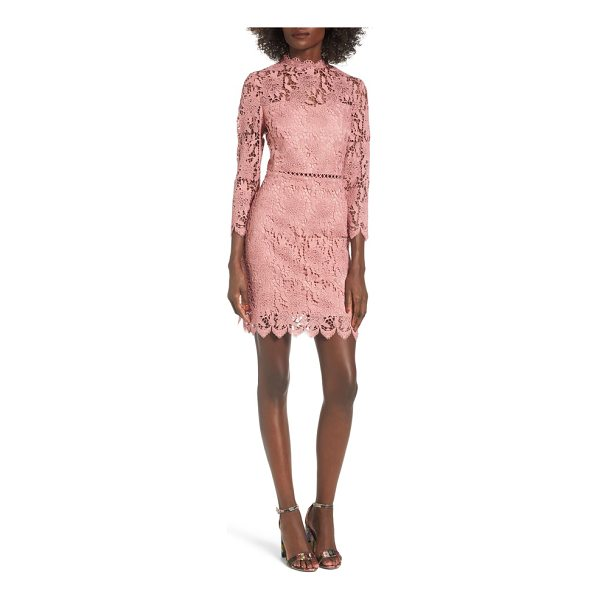 J.O.A. lace sheath dress - Soft and romantic, this lace dress also has a sassy side...