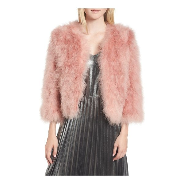 JOCELYN feather bolero - Top your evening-out look with this wonderfully plush...