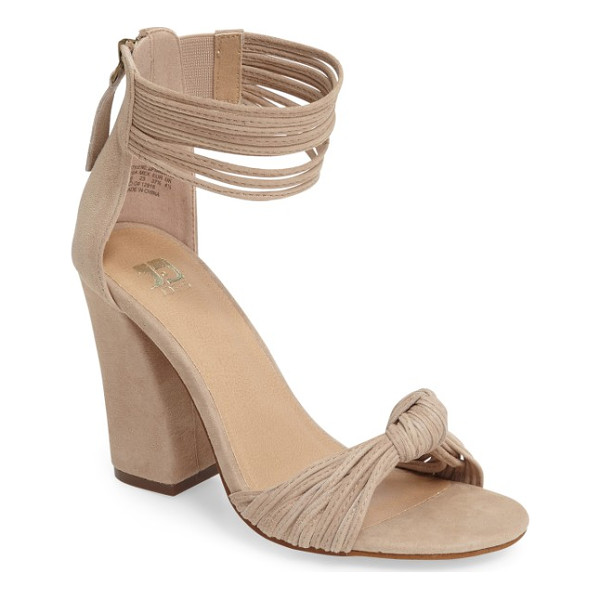 JOE'S fatima sandal - A knotted toe band and dramatic ankle cuff define a...