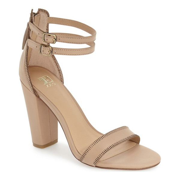 JOE'S vader sandal - Slim ankle straps top a smooth leather sandal lifted by a...