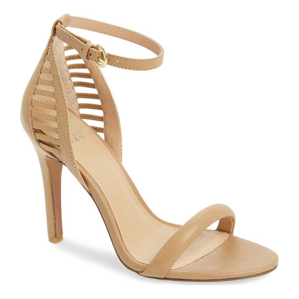 JOE'S virgil cutout ankle strap sandal - Laddered geometric cutouts open up the back of a minimalist...