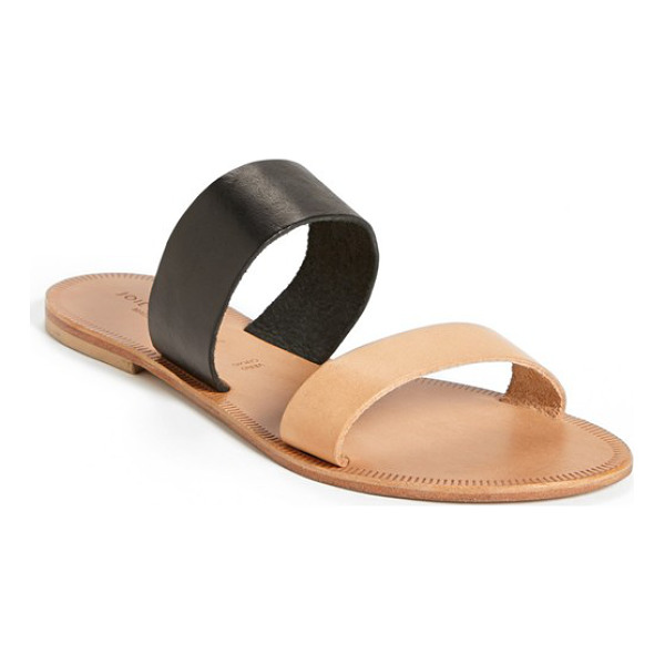 JOIE a la plage 'sable' leather slip-on sandal - Two color-blocked straps define a simple and elegant sandal...
