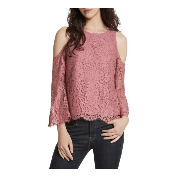 JOIE abay cold shoulder lace top - Exude ethereal elegance in this lacy cold-shoulder blouse...