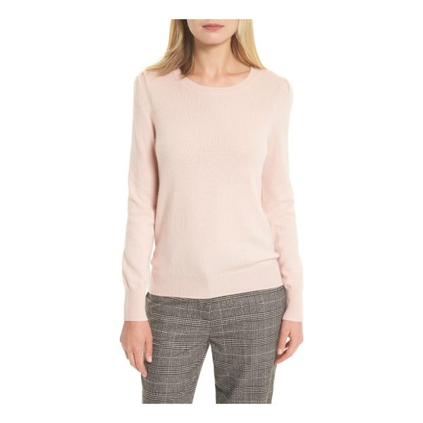 JOIE abiline wool & cashmere sweater - Gently puffed sleeves put a fresh and feminine spin on an...