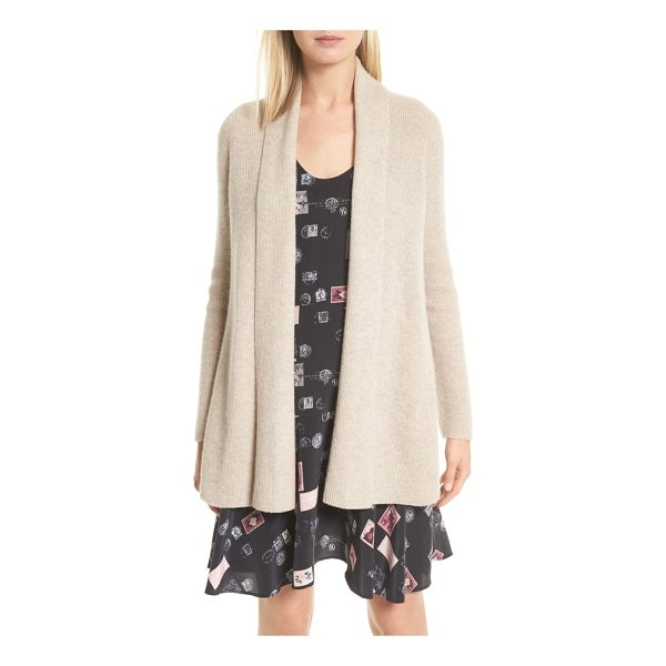 JOIE bryna wool & cashmere cardigan - Finely ribbed in a soft, luxe blend of wool and cashmere,...