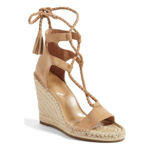 JOIE delilah espadrille wedge sandal - With slender plaited straps that wrap around the ankle and...