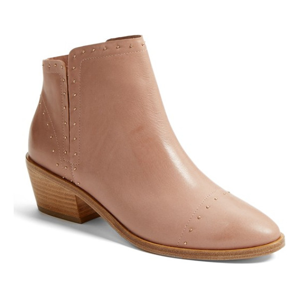 JOIE jacobean studded chelsea boot - Tiny studs trace the decorative stitching on a smart,