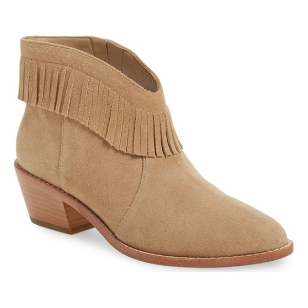 JOIE 'makena' fringe bootie - Fringe trim and a low, stacked heel extend the Western...