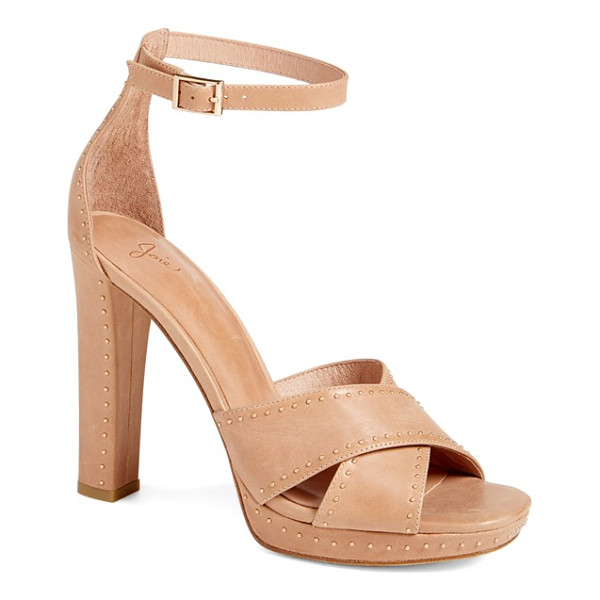 JOIE 'naara' ankle strap sandal - A neutral-hued sandal makes a statement with its mix of