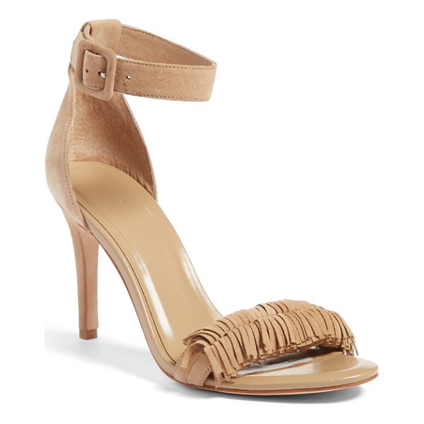 JOIE pippi sandal - A fringed toe strap lends a flirty touch to a breezy...