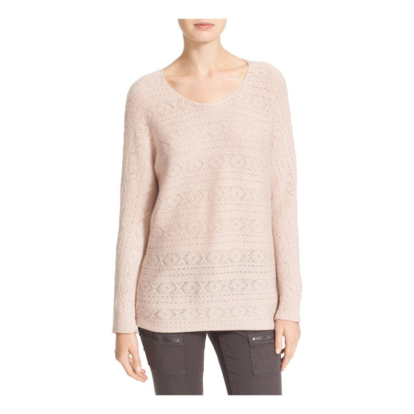 JOIE tayte wool & cashmere pointelle sweater - A textured pointelle knit keeps the feel deliciously light...