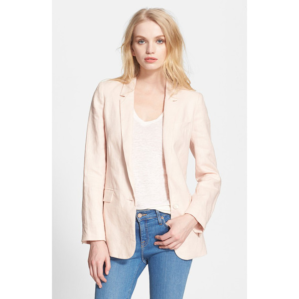 JOIE verene linen jacket - Layer an easy linen blazer over almost anything for a...