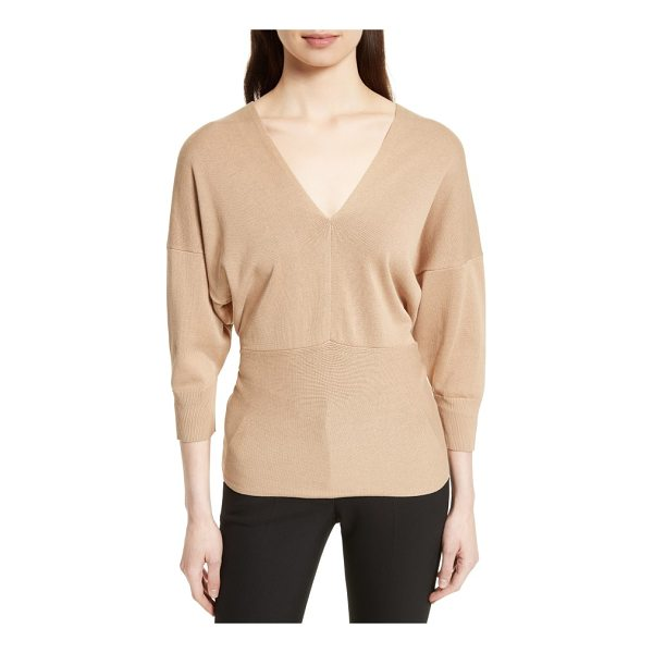 JOSEPH tie detail v-neck sweater - A fine-gauge drop-shoulder sweater offers a chic and...