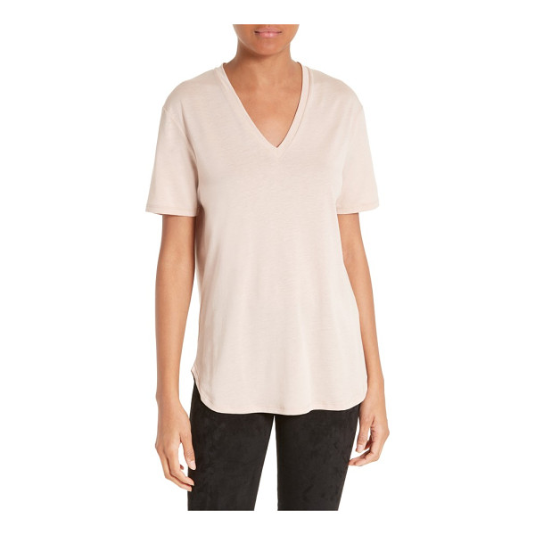 JOSEPH v-neck tee - A fluid micro-ribbed tee is expertly cut to serve as a...