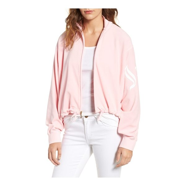 JUICY COUTURE velour batwing track jacket - Batwing sleeves, a drawstring waist and a softly voluminous...