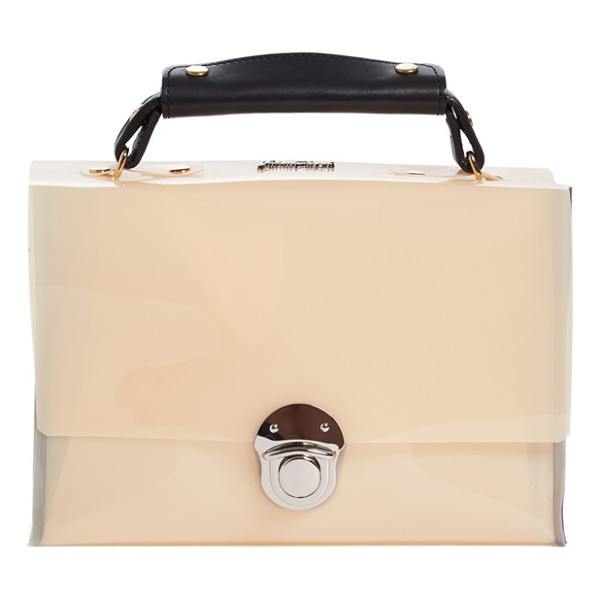 JULIEN DAVID Faux patent leather bag - Glossy faux patent leather lends liquid shine to a...