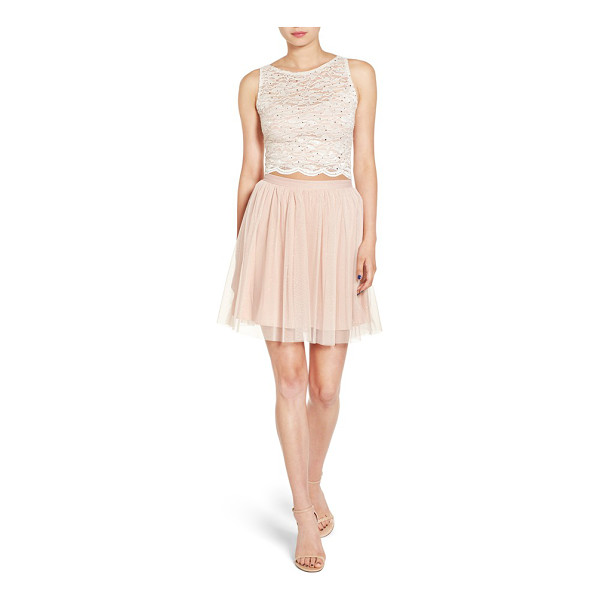 JUMP APPAREL lace bodice two-piece dress - A ballerina-inspired two-piece dress features a lacy crop...