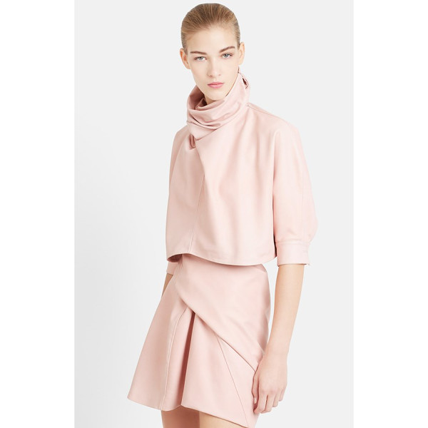 J.W.ANDERSON twist neck nappa leather crop top - An artful twist scrunches the high, face-framing neckline...