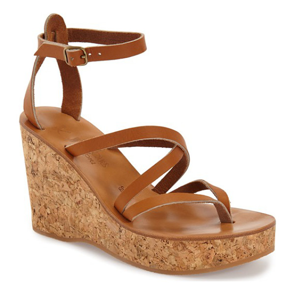 K. JACQUES 'cunegonde' wedge sandal - An earthy cork wedge and platform ground a strappy thong...