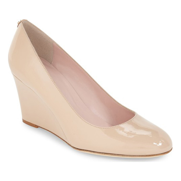 KATE SPADE NEW YORK 'amory' round toe wedge pump - A streamlined pump crafted in Italy features a sleek,...
