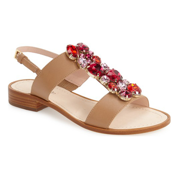 KATE SPADE NEW YORK brigit crystal embellished sandal - A playful band of multifaceted crystals adds...