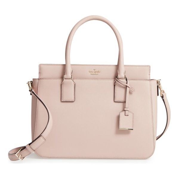 KATE SPADE NEW YORK cameron street - A structured satchel in scratch-resistant, crosshatched...
