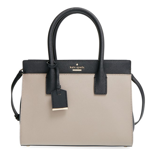 KATE SPADE NEW YORK Cameron street -small candace satchel - Crosshatch-textured leather and a classic, structured...