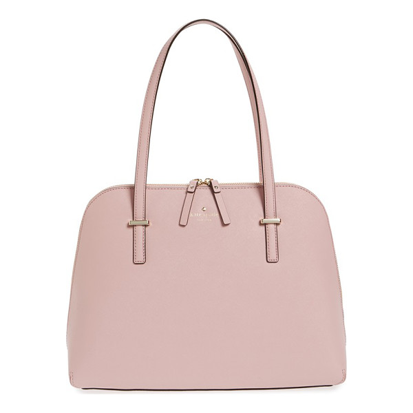 KATE SPADE NEW YORK Cedar street - Scratch-resistant crosshatched leather polishes a tidy...