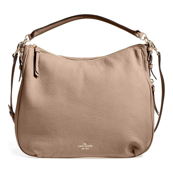 KATE SPADE NEW YORK Cobble hill - A slouchy hobo shaped from finely pebbled leather provides...