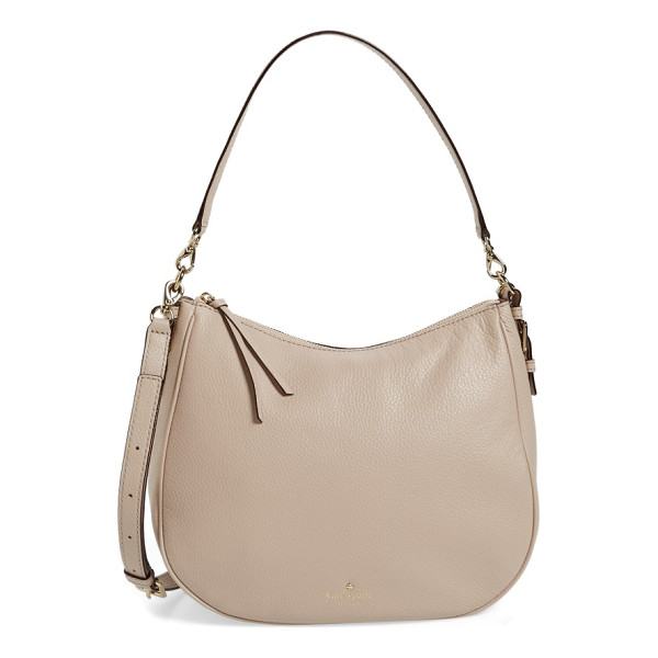 KATE SPADE NEW YORK cobble hill mylie leather hobo - Look refined and polished with this versatile hobo that
