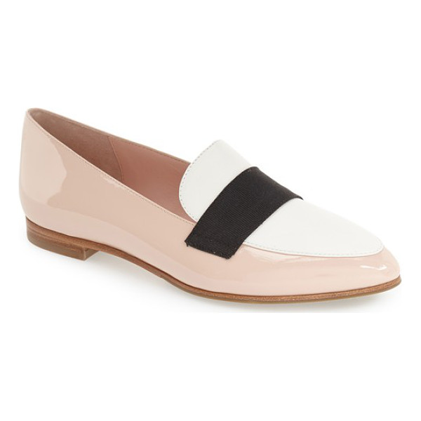 KATE SPADE NEW YORK corina pointy toe loafer - A grosgrain-ribbon accent crosses the vamp of a pointy-toe...