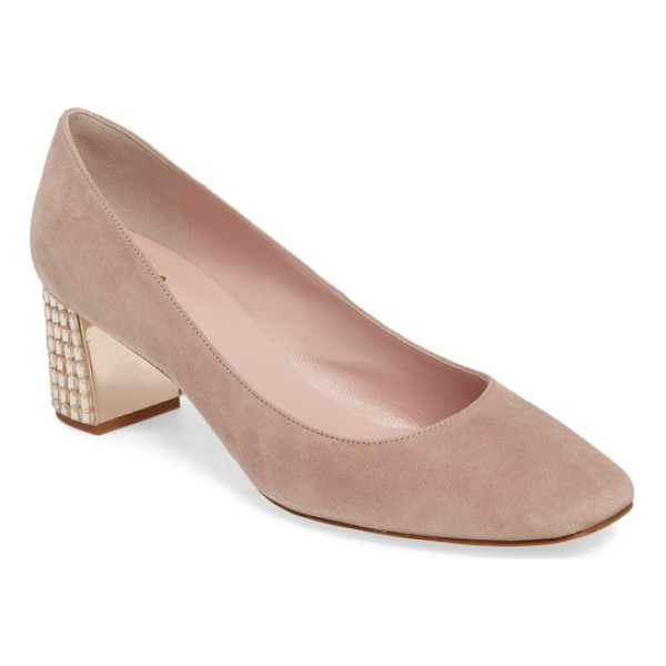 KATE SPADE NEW YORK danika too pump - A wardrobe-staple suede pump offers a flash of the...