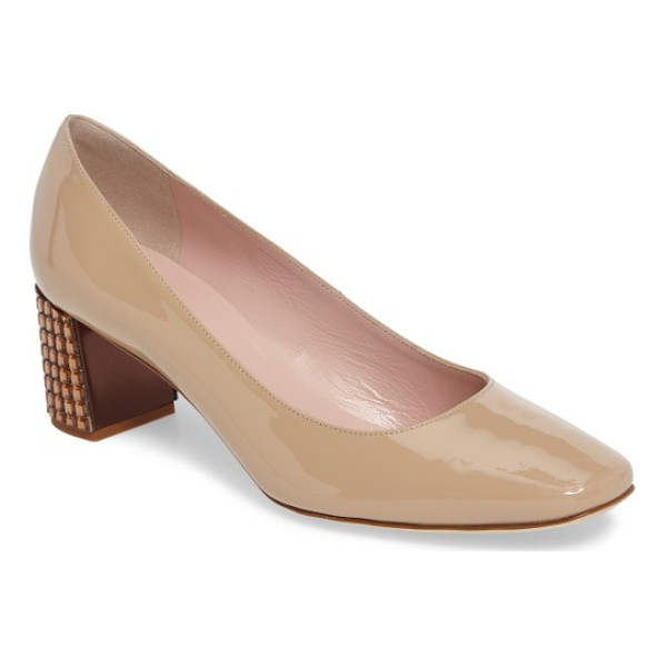 KATE SPADE NEW YORK danika too pump - A wardrobe-staple suede pump offers a flash of the