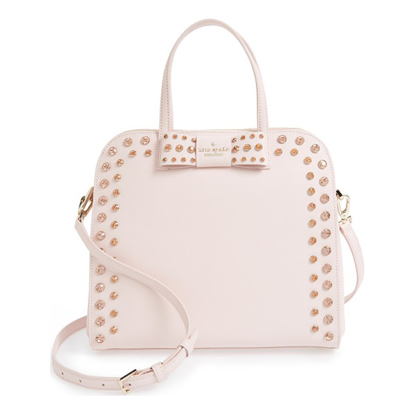 KATE SPADE NEW YORK Davies mews - Gleaming gems embellish a curvy satchel crafted from finely...