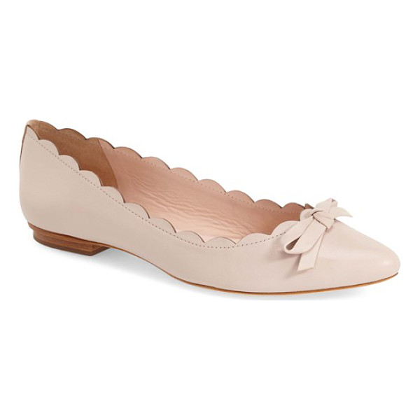 KATE SPADE NEW YORK 'eleni' pointy toe ballet flat - A pert bow accents the pointed toe of a graceful ballet