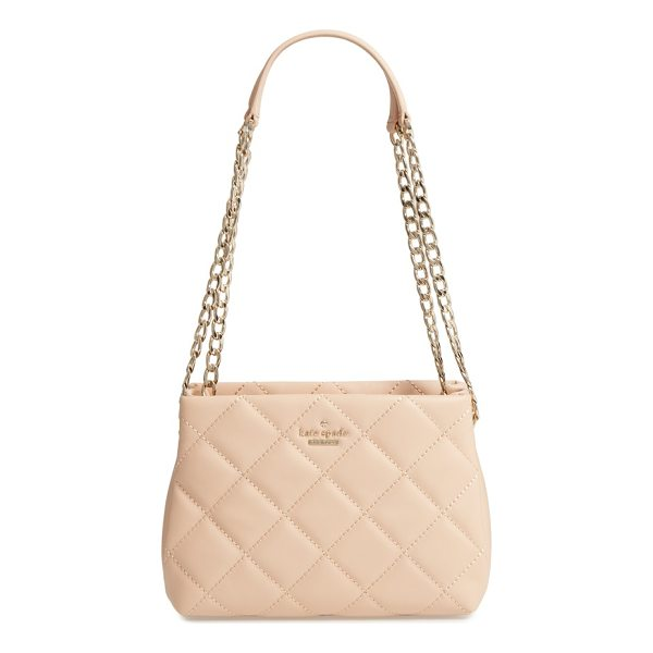 KATE SPADE NEW YORK emerson place - Diamond-quilted leather brings soft structure to an...