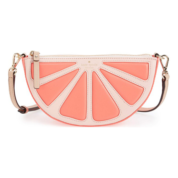 KATE SPADE NEW YORK Flights of fancy grapefruit crossbody bag - A juicy treat for the summer that'll last forever, this...