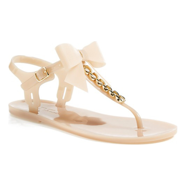KATE SPADE NEW YORK flise flat sandal - Perfect for poolside or lazy days at the beach, this...