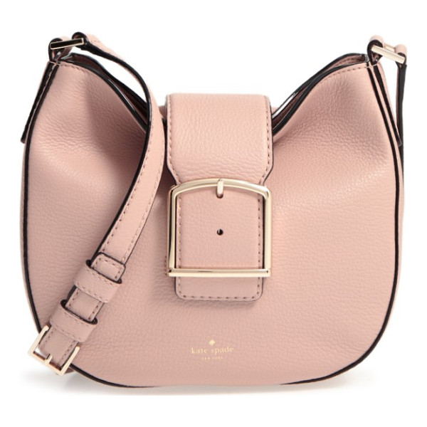 KATE SPADE NEW YORK healy lane lilith leather crossbody bag - Bold buckle hardware contrasts beautifully with the supple...