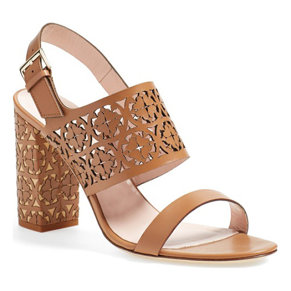 KATE SPADE NEW YORK imani too slingback sandal - Intricate floral cutouts lend a rich, artisanal look to...
