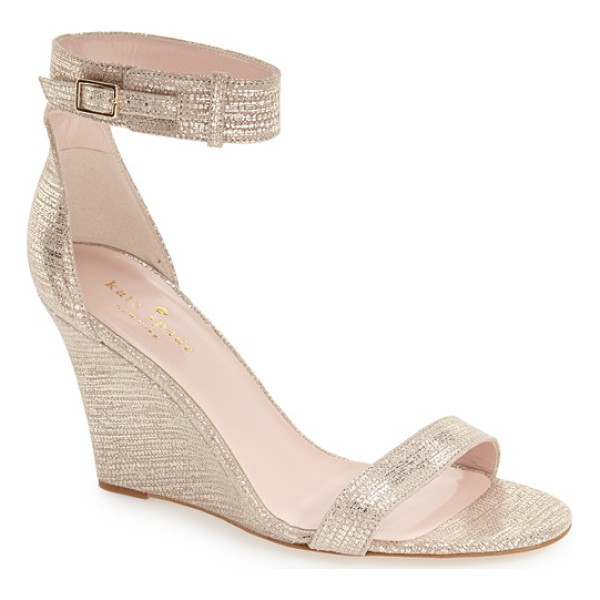 KATE SPADE NEW YORK imonda ankle strap wedge sandal - A belted ankle-strap sandal lifted by a slim, elegant wedge...