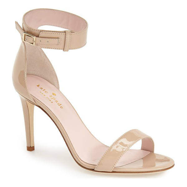 KATE SPADE NEW YORK 'isa' ankle strap sandal - A buckle-embellished ankle strap adds a thoroughly modern...
