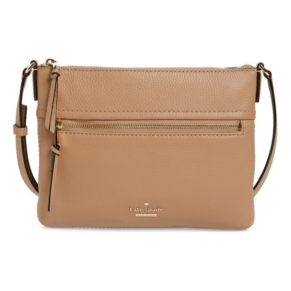 KATE SPADE NEW YORK jackson street - A slim and trim crossbody bag in supple pebbled leather is...