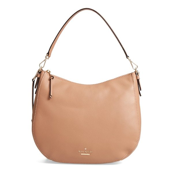 KATE SPADE NEW YORK jackson street mylie leather hobo - A removable, adjustable crossbody strap lets you switch...