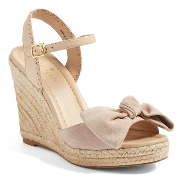 KATE SPADE NEW YORK jane espadrille wedge sandal - An espadrille platform wedge provides chic, summery lift,...