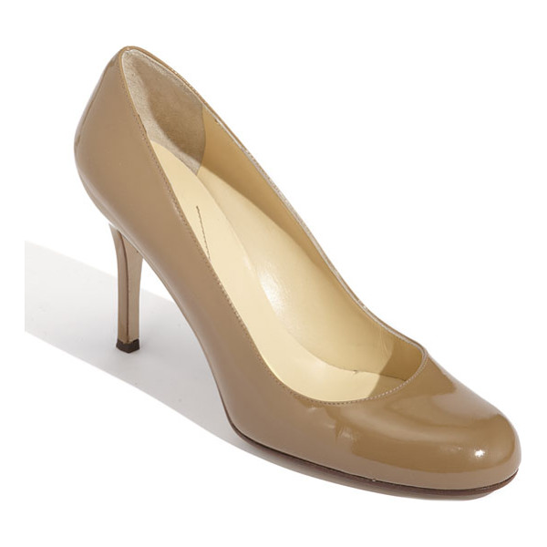 KATE SPADE NEW YORK 'karolina' pump - Sleek, round-toe pump features a classic style in modern...