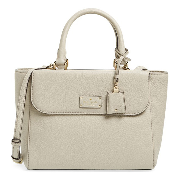 KATE SPADE NEW YORK Kendall court - Lavishly textured leather composition furthers the uptown...