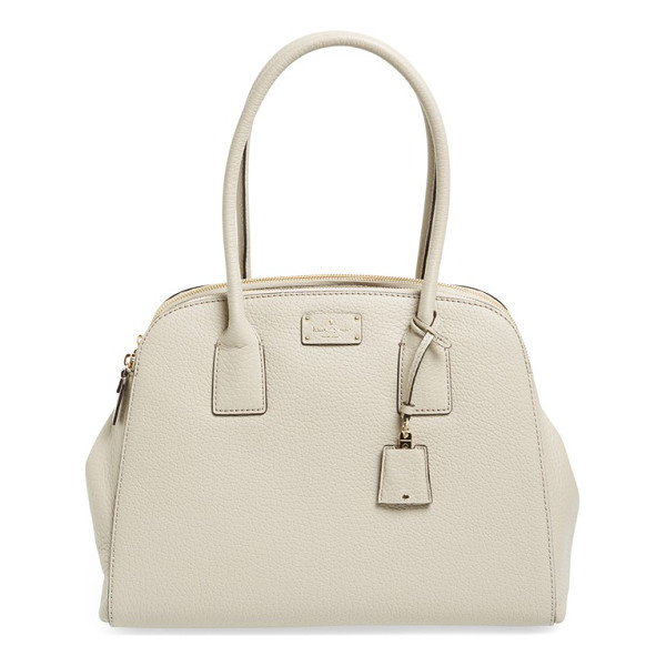 KATE SPADE NEW YORK Kendall court - Lightly glazed pebbled leather adds lovely dimension to a...